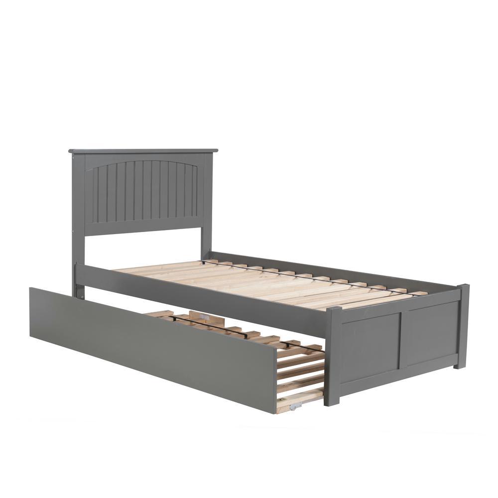 Atlantic Furniture Nantucket Twin Platform Bed With Flat Panel Foot