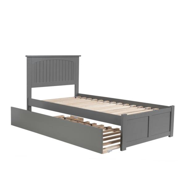 Atlantic Furniture Nantucket Twin Platform Bed with Flat Panel Foot Board