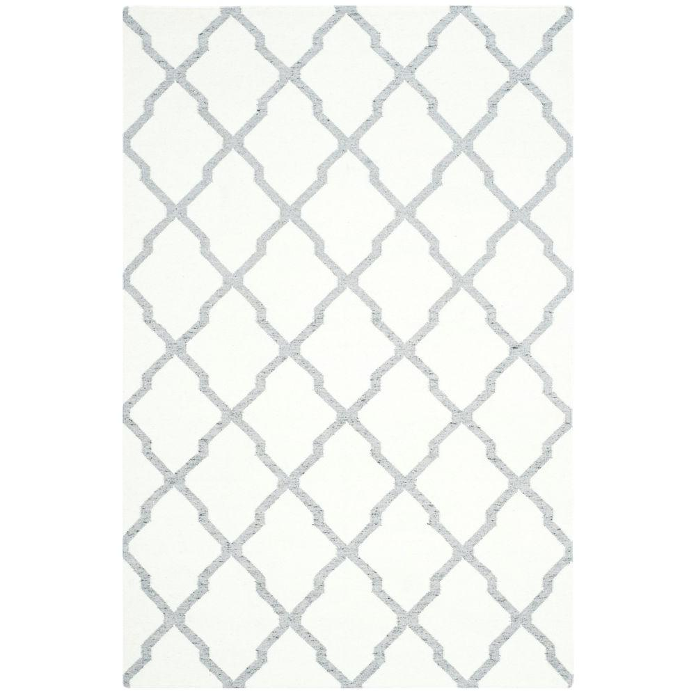 Safavieh Dhurries Ivory/Grey 5 ft. x 8 ft. Area Rug