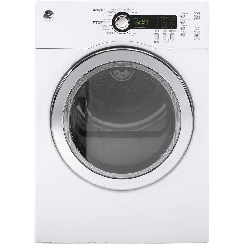 240 Volt White Stackable Electric Vented Dryer