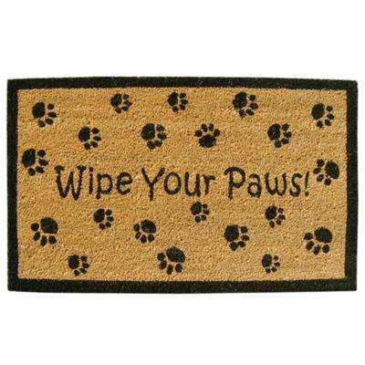 Wipe Your Paws 18 in. x 30 in. SuperScraper Vinyl/Coir Door Mat