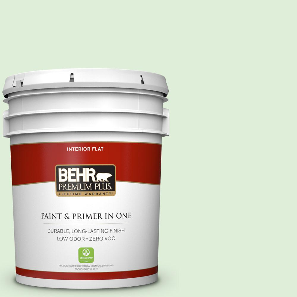 BEHR Premium Plus 5-gal. #440C-2 Cucumber Crush Zero VOC Flat Interior Paint