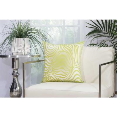 Green Animal Print Stain Resistant Polyester 18 in. x 18 in. Throw Pillow