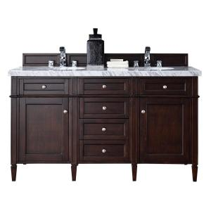 James Martin Signature Vanities Brittany 60 inch W Double Vanity in Burnished Mahogany with Marble Vanity Top in Carrara... by James Martin Signature Vanities