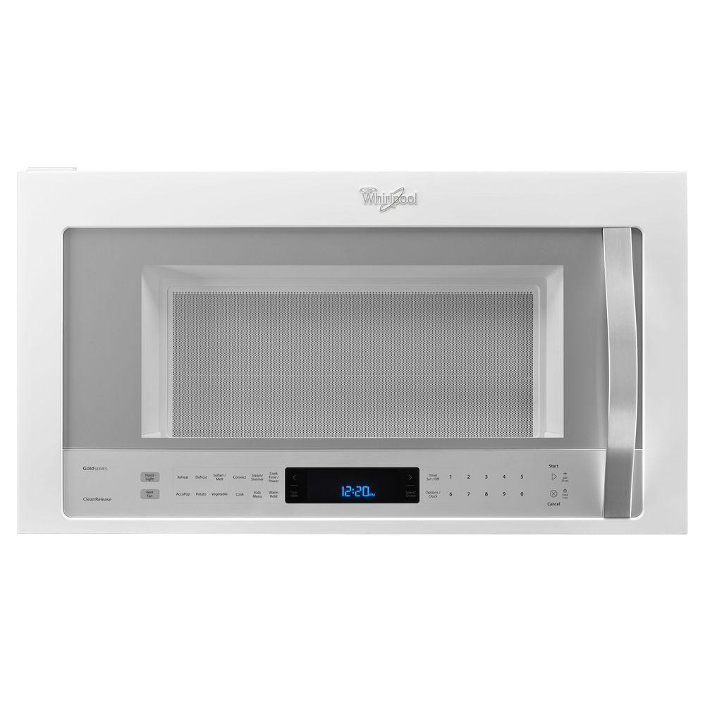 Whirlpool white ice over the range microwave - Whirlpool 30 In W 1 9 Cu Ft Over The Range Convection Microwave In