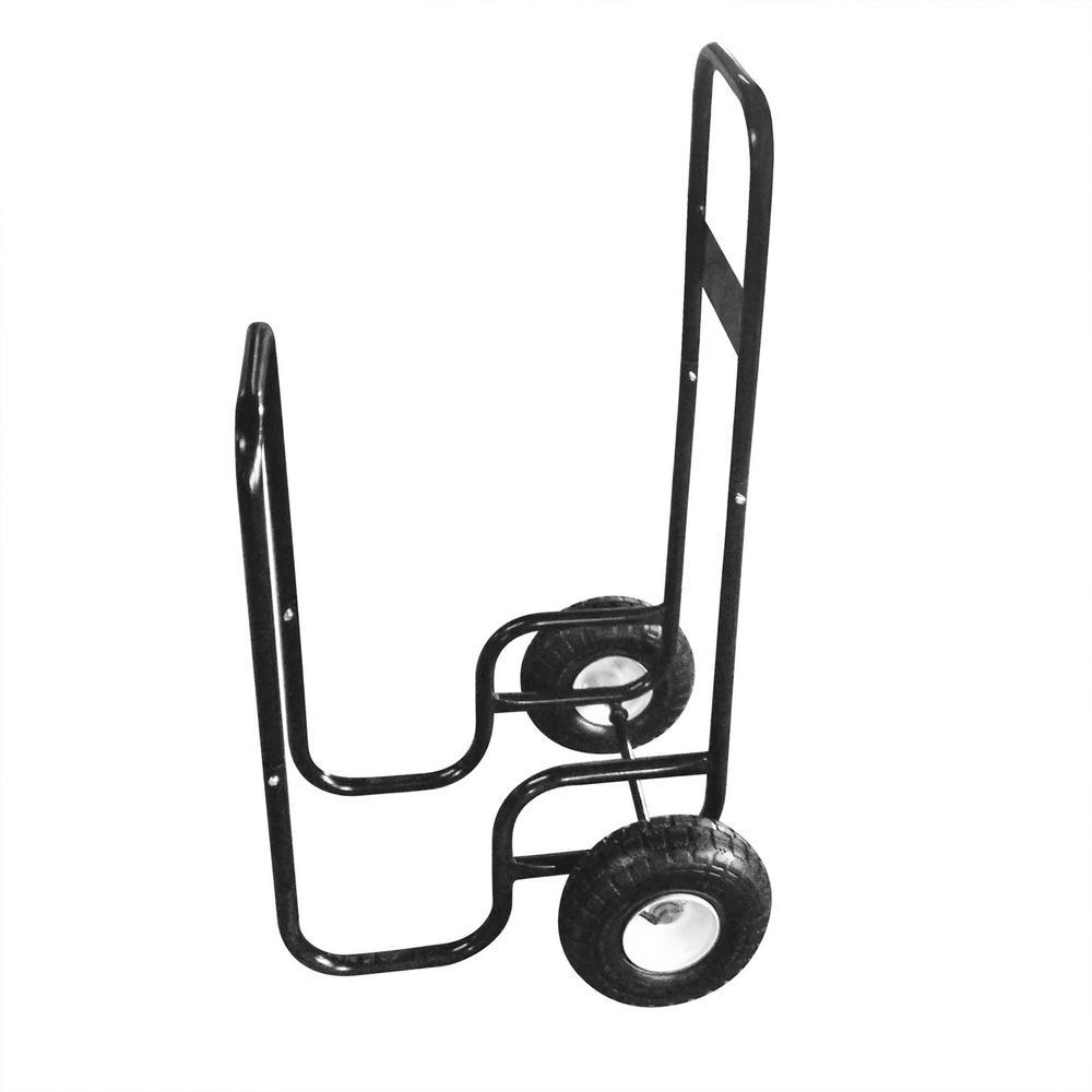 Firewood Log Cart Wood Mover-Hauler-Roller in Black