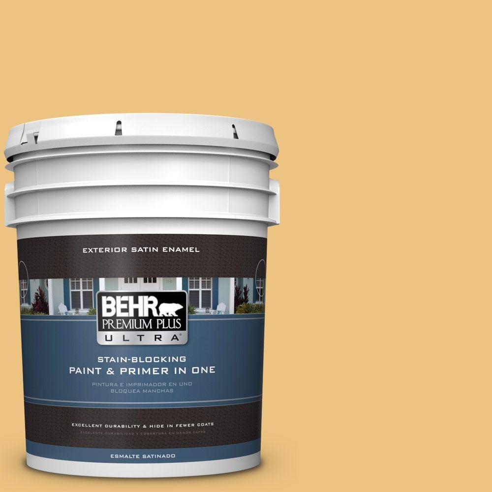 BEHR Premium Plus Ultra 5-gal. #350D-4 Wild Bamboo Satin Enamel Exterior Paint