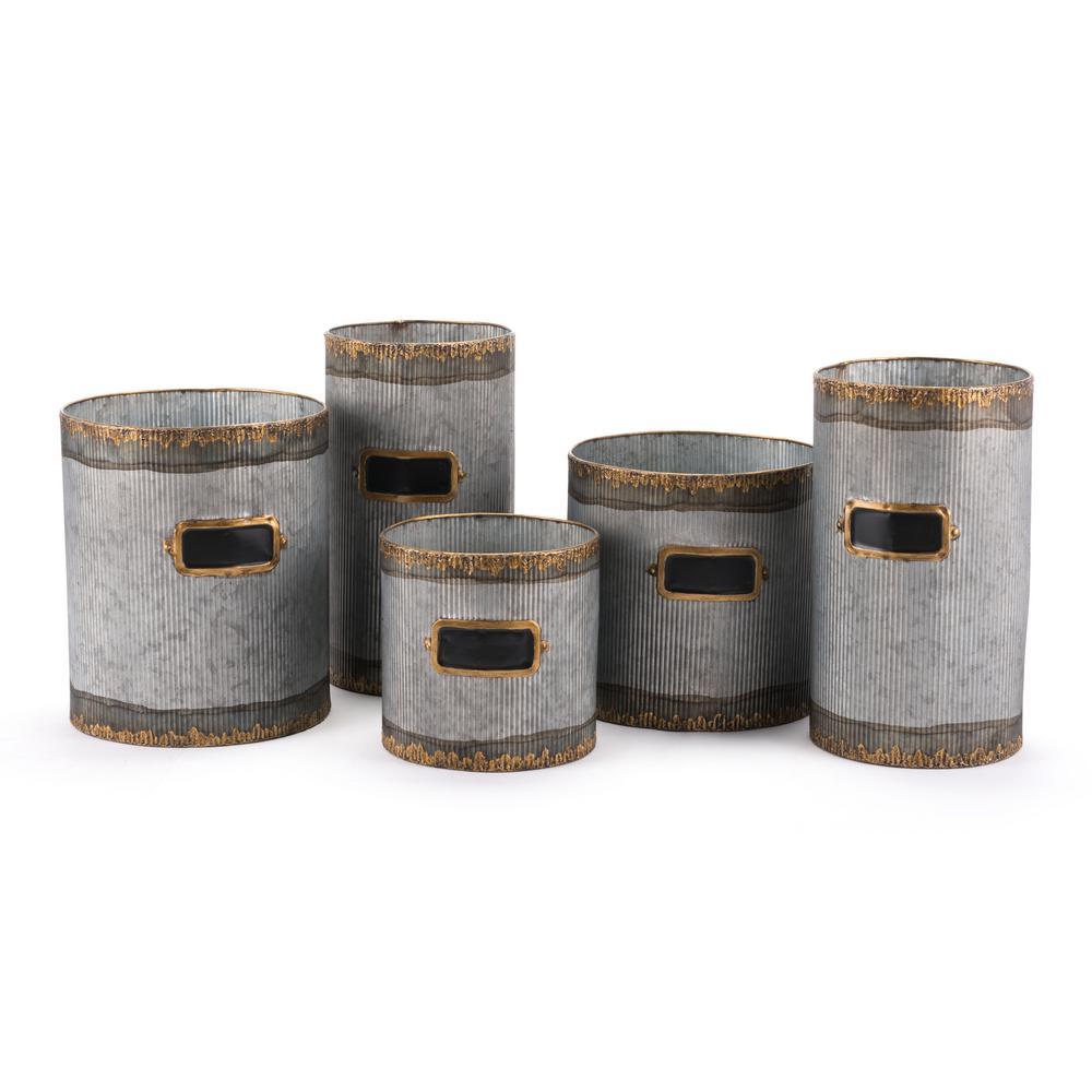 Latitas Antique Steel Planter (5-Pack)