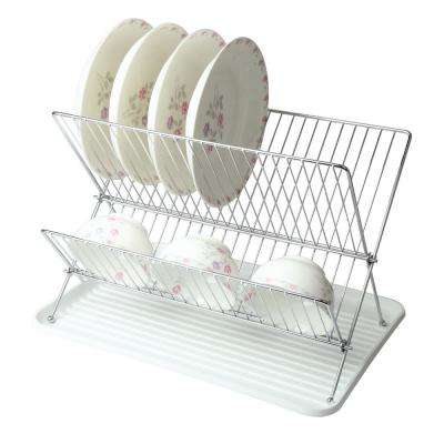 Wire Dish Rack in White