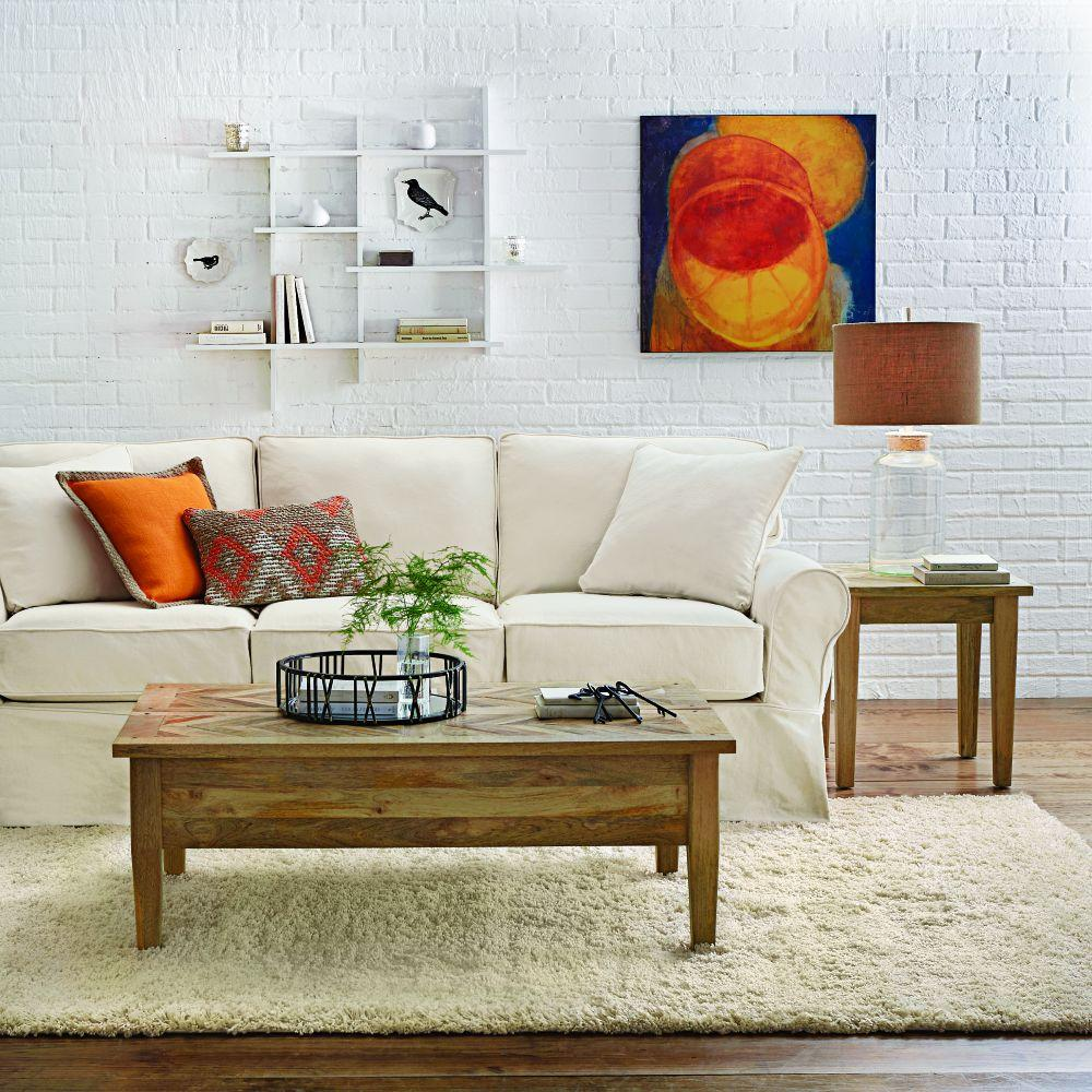 Home decorators collection parquetry natural coffee table for The home decorators collection