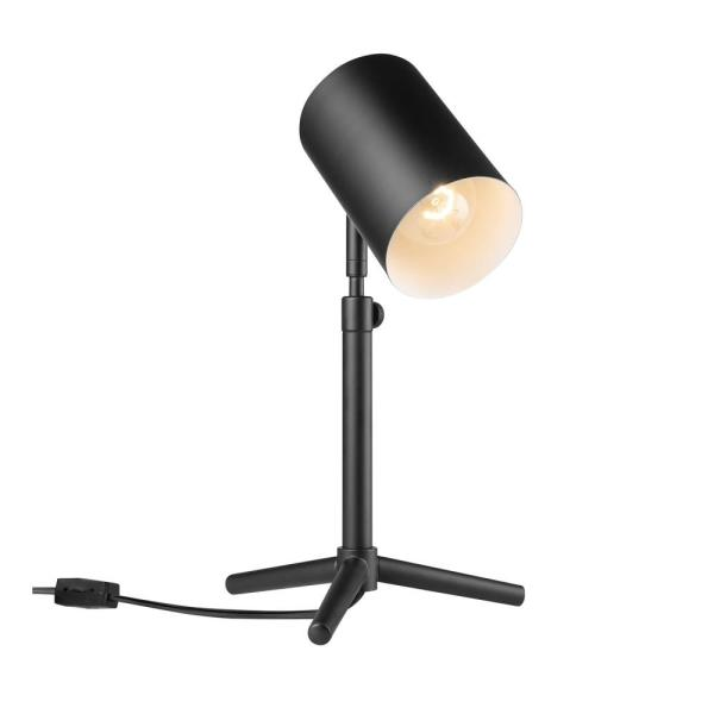 Pratt 18 in. Matte Black Desk Lamp