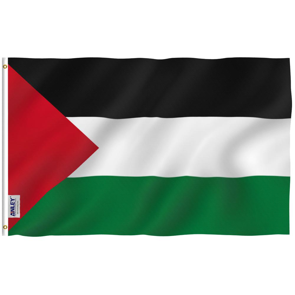 ANLEY Fly Breeze 3 ft  x 5 ft  Polyester Palestine Flag 2-Sided Flags  Banner with Brass Grommets and Canvas Header