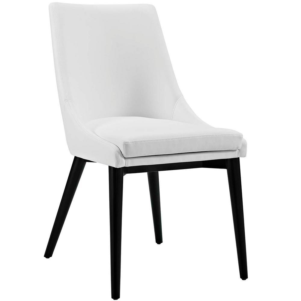 Viscount White Vinyl Dining Chair