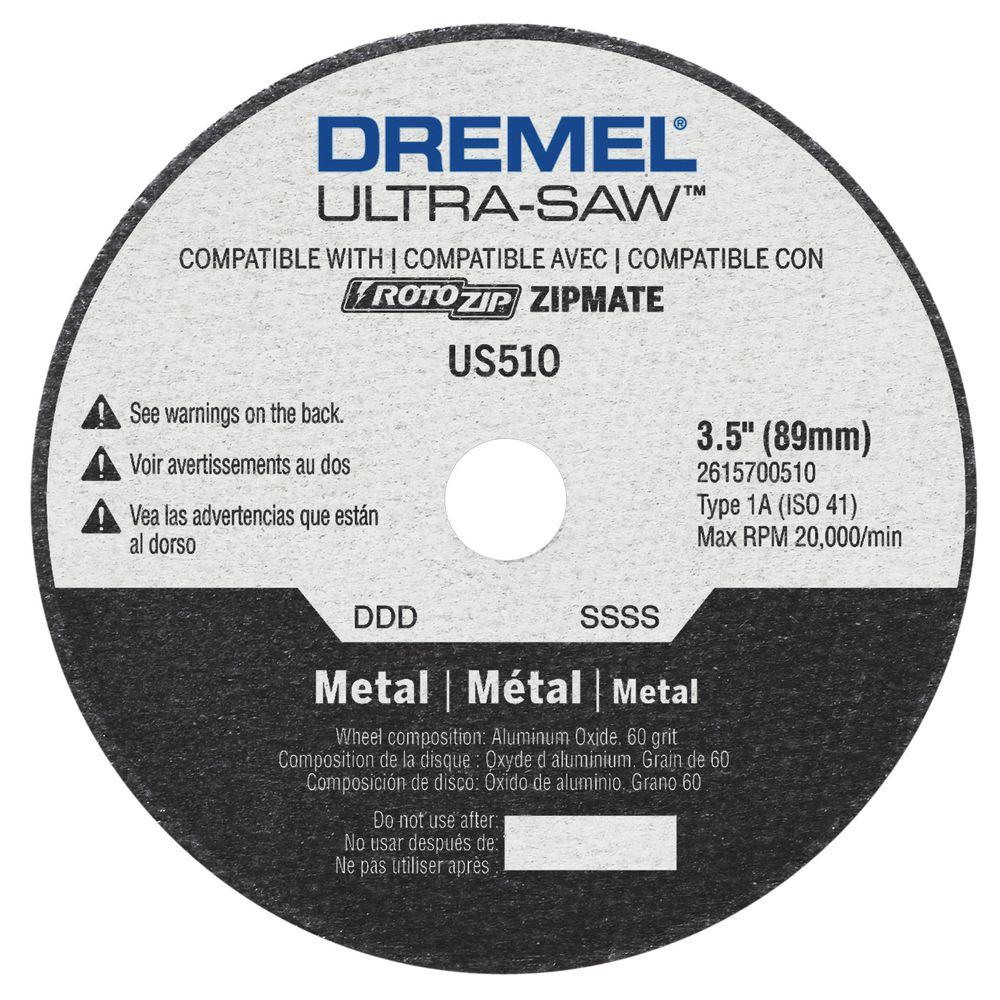 Dremel ultra saw 3 12 in metal cutting wheel us510 01 the home depot dremel ultra saw 3 12 in metal cutting wheel greentooth Gallery