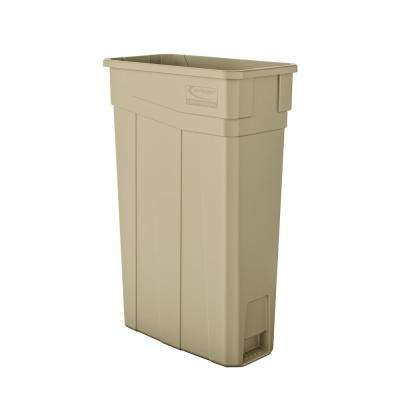 Slim 23 Gal. Sand Plastic Trash Can