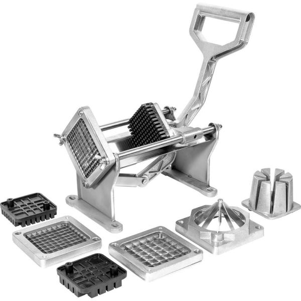 Commercial-Grade with 4-Stainless Steel Blades French Fries Fry and Veggie Cutter