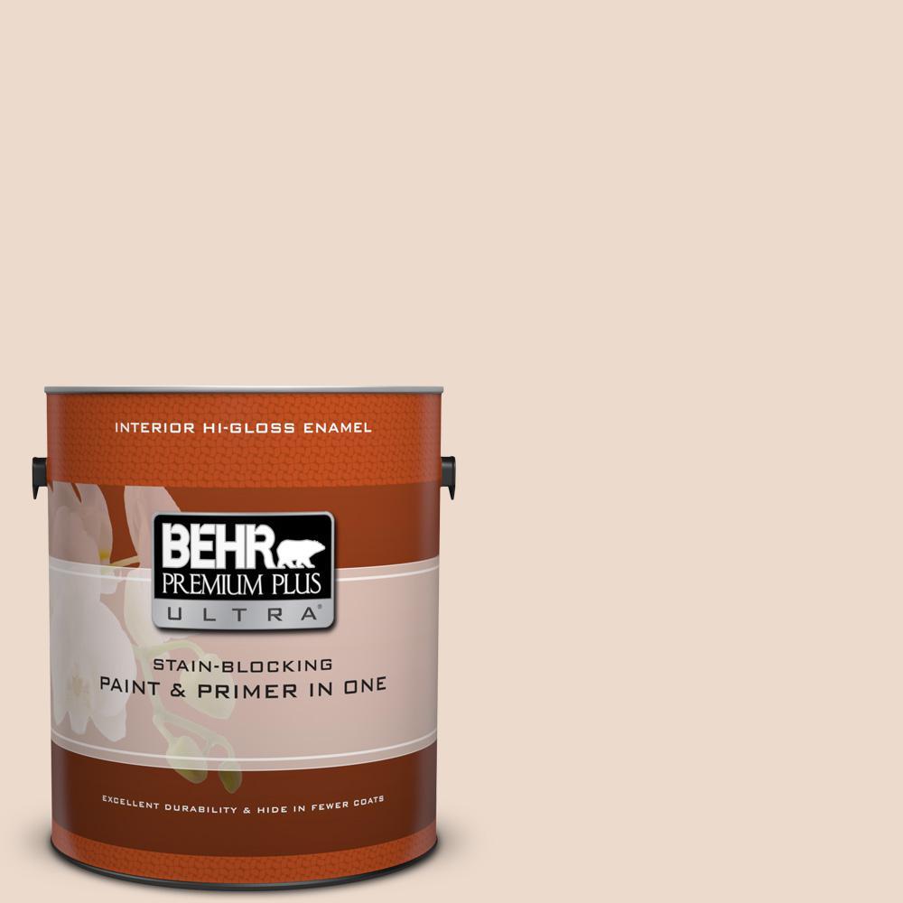 1 gal. #BWC-22 Lambskin Hi-Gloss Enamel Interior Paint