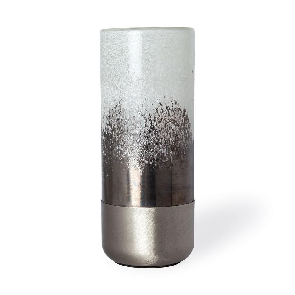 Baltic I (Tall) White, Bronze and Silver Decorative Vase
