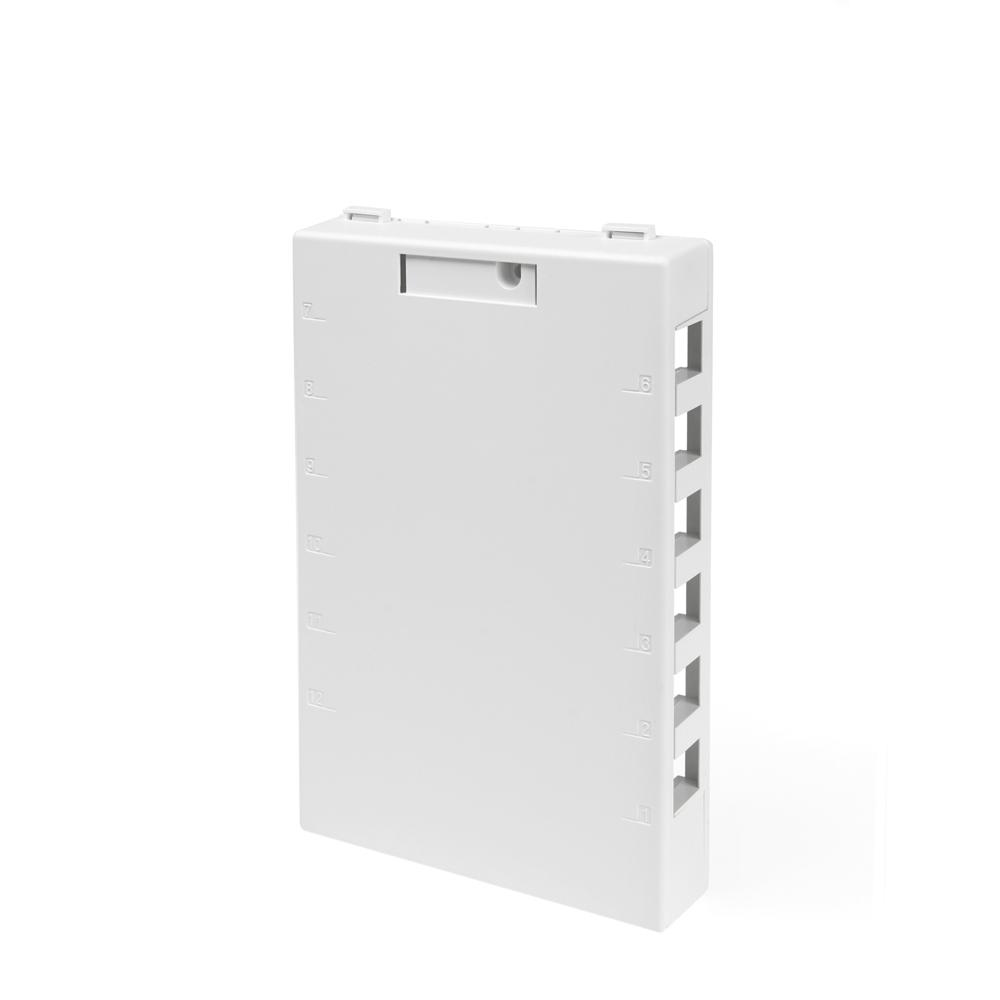 12-Port QuickPort Surface Mount Box, White