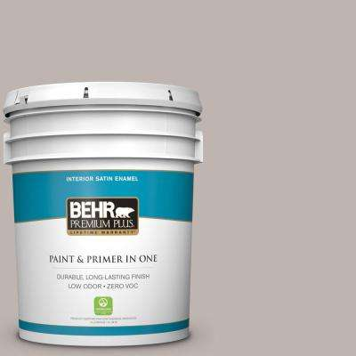 5 gal. #PPU18-12 Graceful Gray Satin Enamel Zero VOC Interior Paint and Primer in One