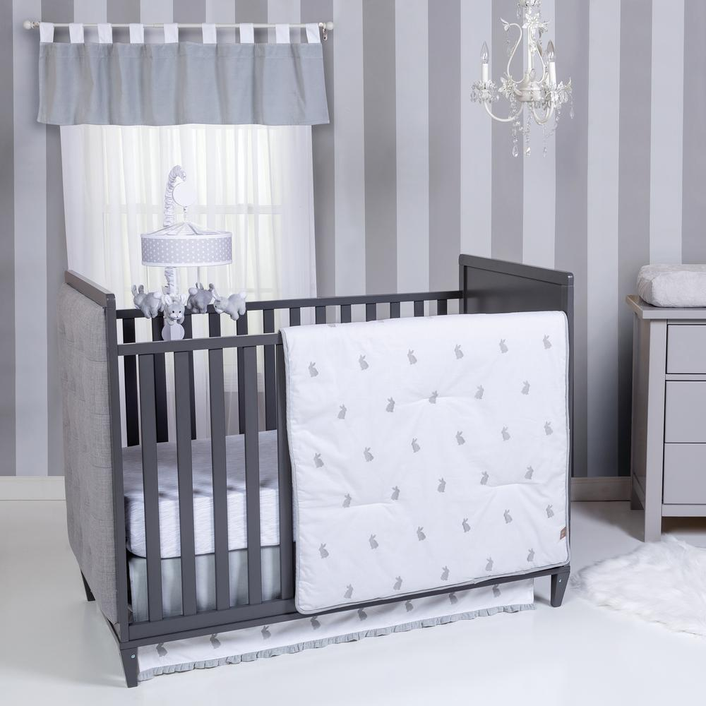 Bunnies 3-Piece Crib Bedding Set