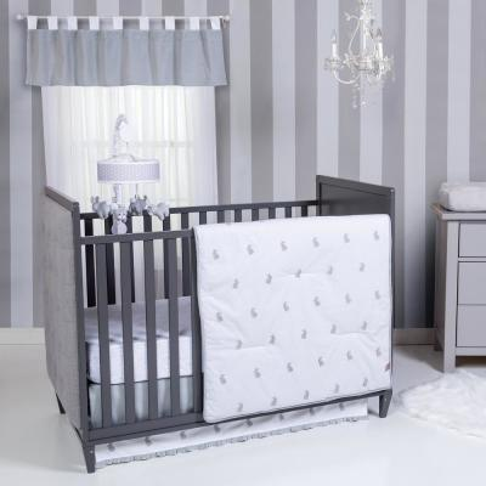 Bunnies 3-Piece Crib Bedding Set