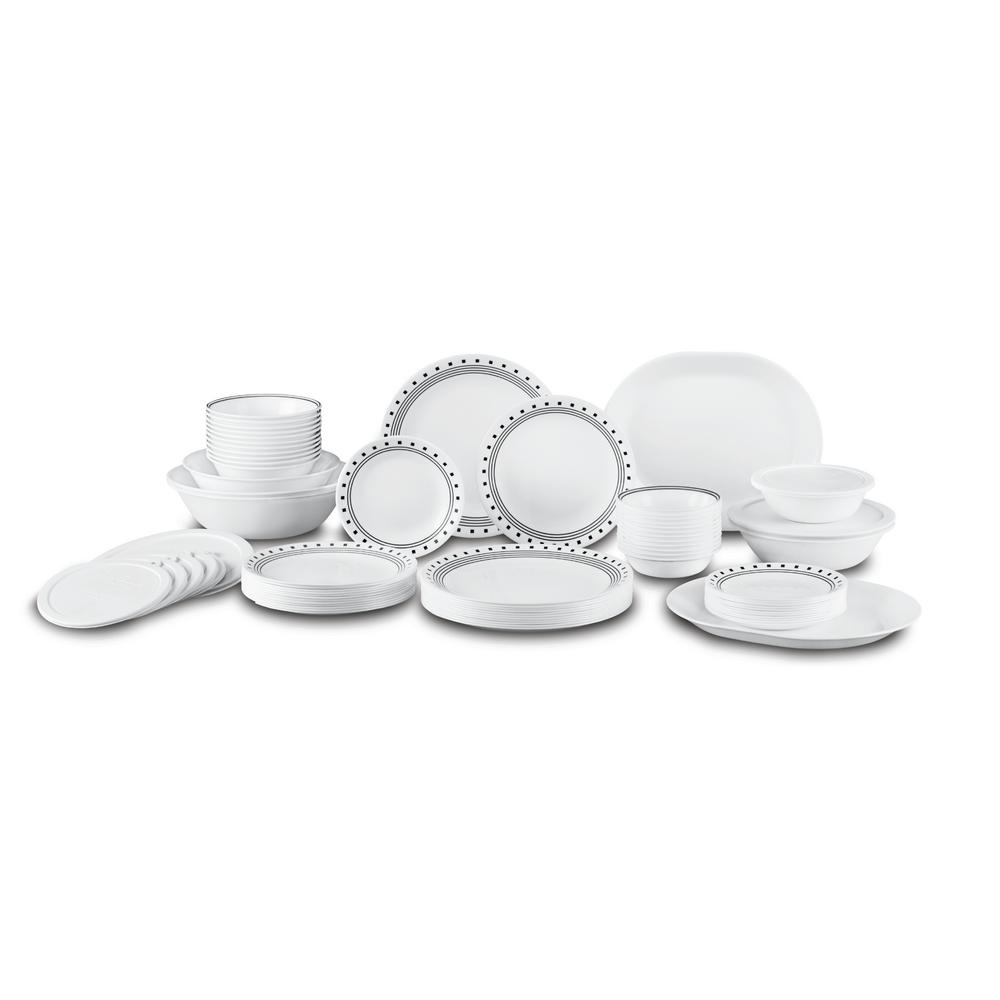 Corelle Livingware Set (74-Piece)-1127103 - The Home Depot