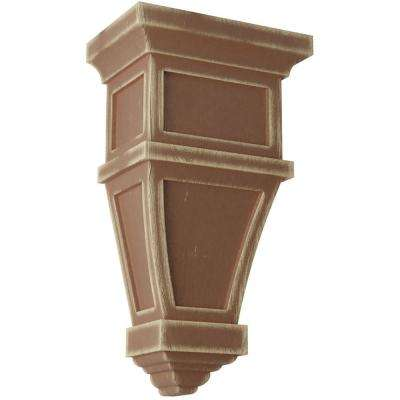 6 in. x 11 in. x 4 in. Weathered Brown Alpine Wood Vintage Decor Corbel