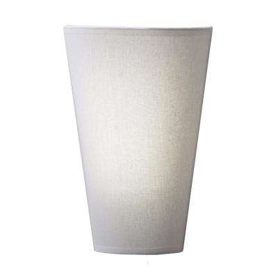 White Veined Fabric Wall Mounted Indoor Battery Operated 6 Integrated LED Sconce with 10 Light Modes and Remote