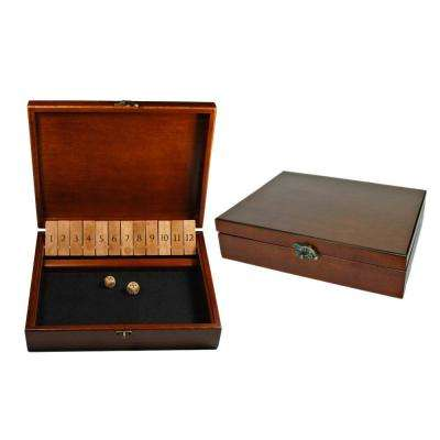 Old World Style Shut-the-Box Game with Lid