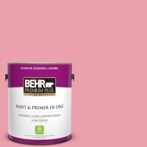 Behr Premium Plus 1 Gal P150 3 Pinque Eggshell Enamel Low Odor Interior Paint And Primer In One 205001 The Home Depot