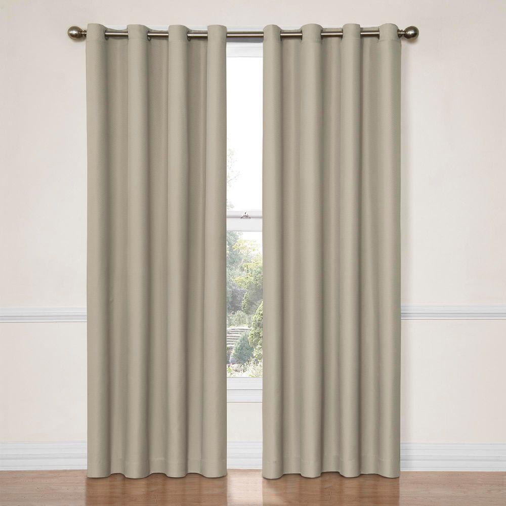Eclipse Dane Blackout String Beige Curtain Panel, 84 in. Length (Price Varies by Size)