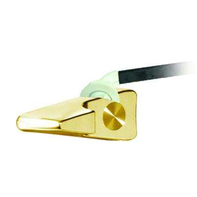 9 in. Triangular Toilet Tank Lever in Polished Brass