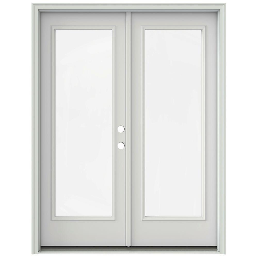 Jeld Wen 60 In X 80 In Primed Prehung Left Hand Inswing 1 Lite French Patio Door With