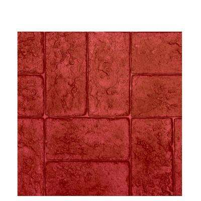 43 in. X 21.5 in. Monterey Brick Basketweave Texture Stamp