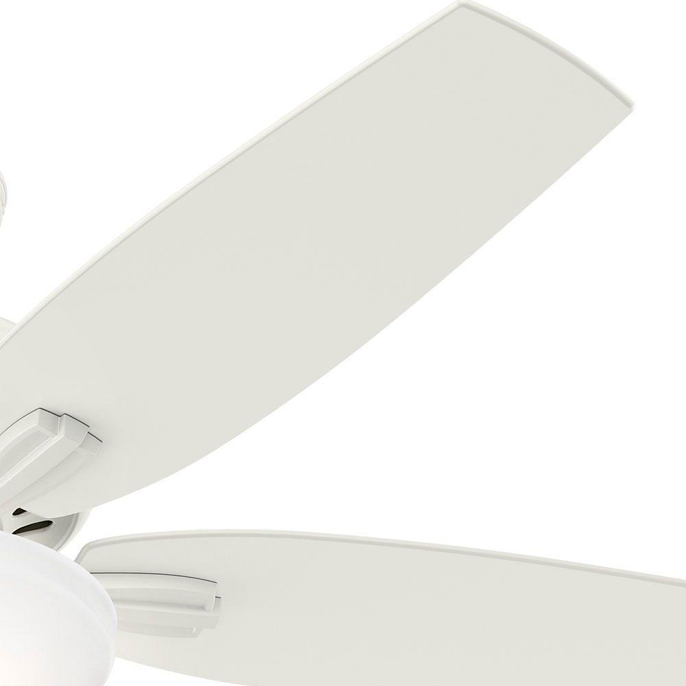 Hunter Newsome 52 In Indoor Fresh White Bowl Light Kit Ceiling Fan 53310 The Home Depot