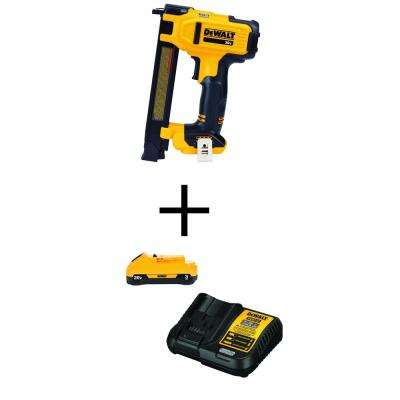 20-Volt MAX Lithium Ion Cordless Cable Stapler (Tool-Only) with Bonus 20-Volt MAX Battery Pack 3.0Ah and Charger