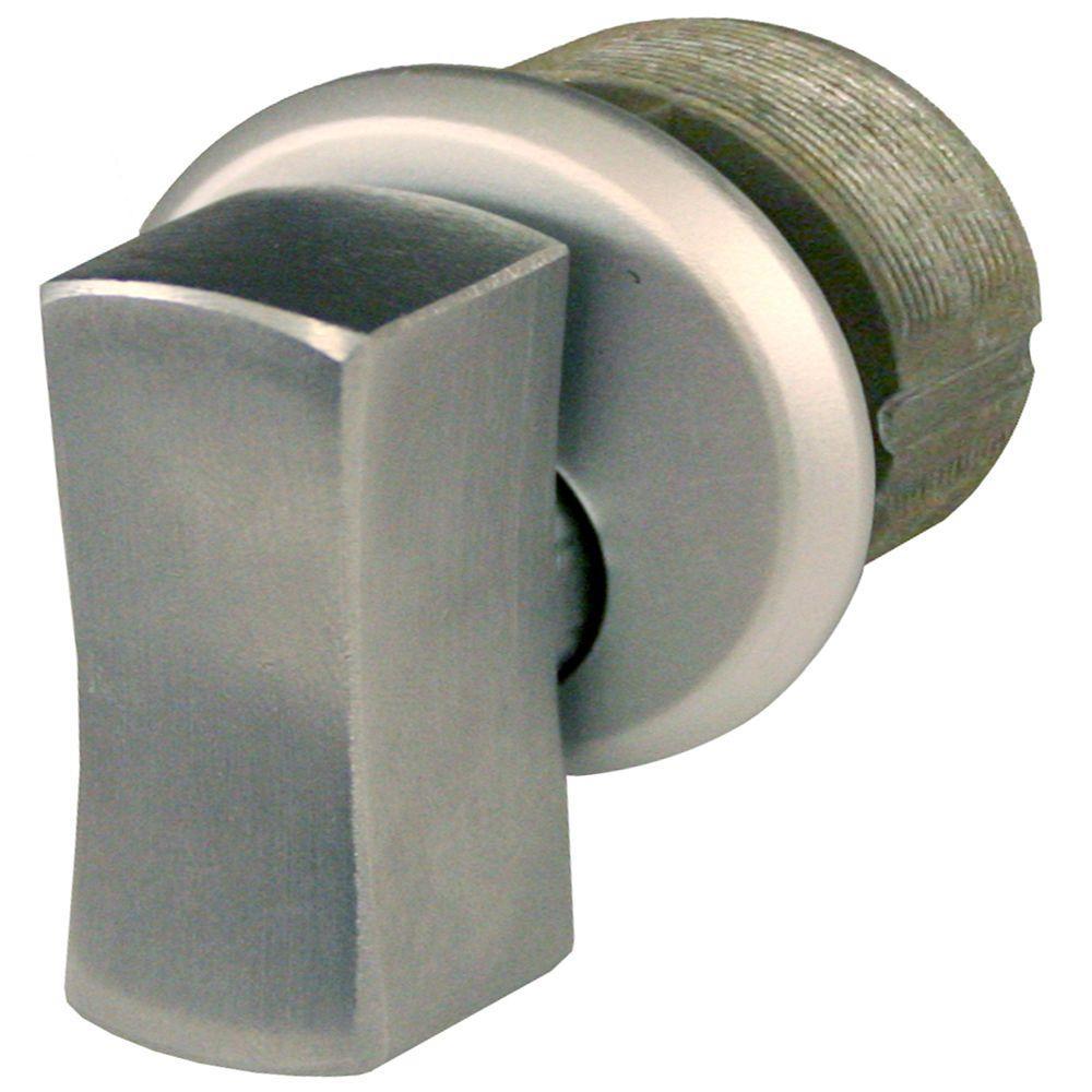 Aluminum Oversized Zinc Thumbturn Mortise Cylinder in Aluminum