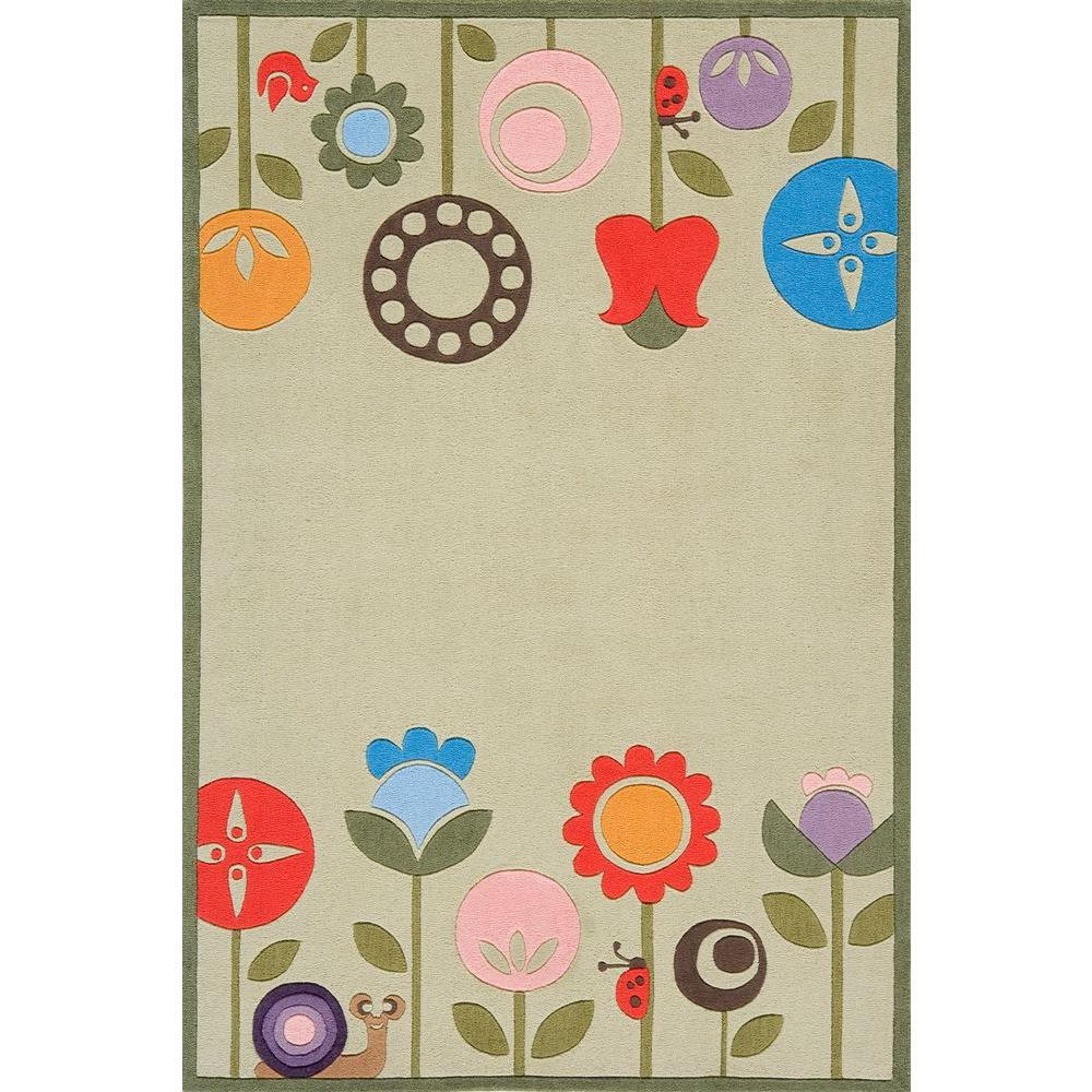 Caprice Collection Green 4 ft. x 6 ft. Indoor Area Rug