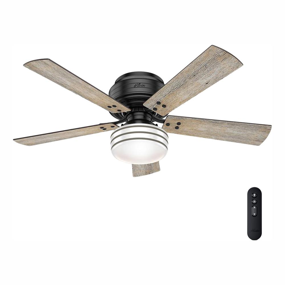 hunter cedar key 52 in indoor outdoor matte black low profile rh homedepot com low profile indoor outdoor ceiling fans low profile outdoor ceiling fans without lights