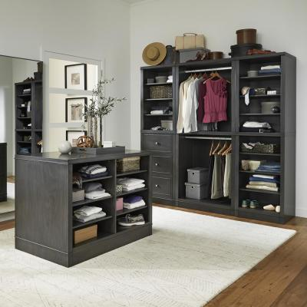 5th Avenue48 in. Black 4-Piece Closet Storage Units