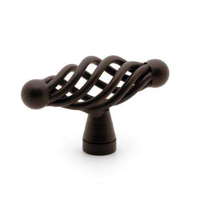 2-4/25 in. (55 mm) Oil-Rubbed Bronze Traditional Cabinet Knob