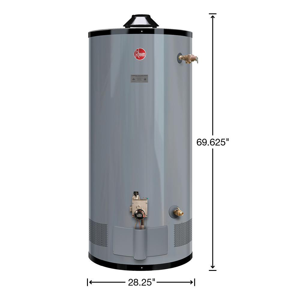 Rheem Commercial Medium Duty 100 Gal 80k Btu Natural Gas Tank Water Heater G100 80 The Home Depot