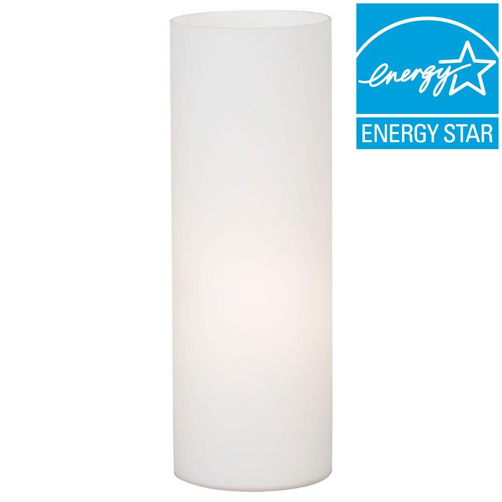 Eglo Geo 13 3/4 In. White Glass Table Lamp