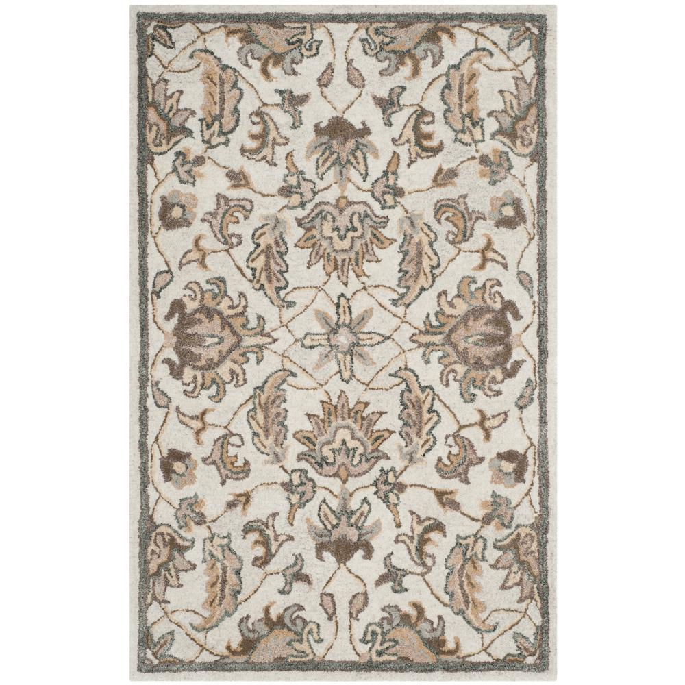 Bella Ivory/Multi 2 ft. 6 in. x 4 ft. Area Rug