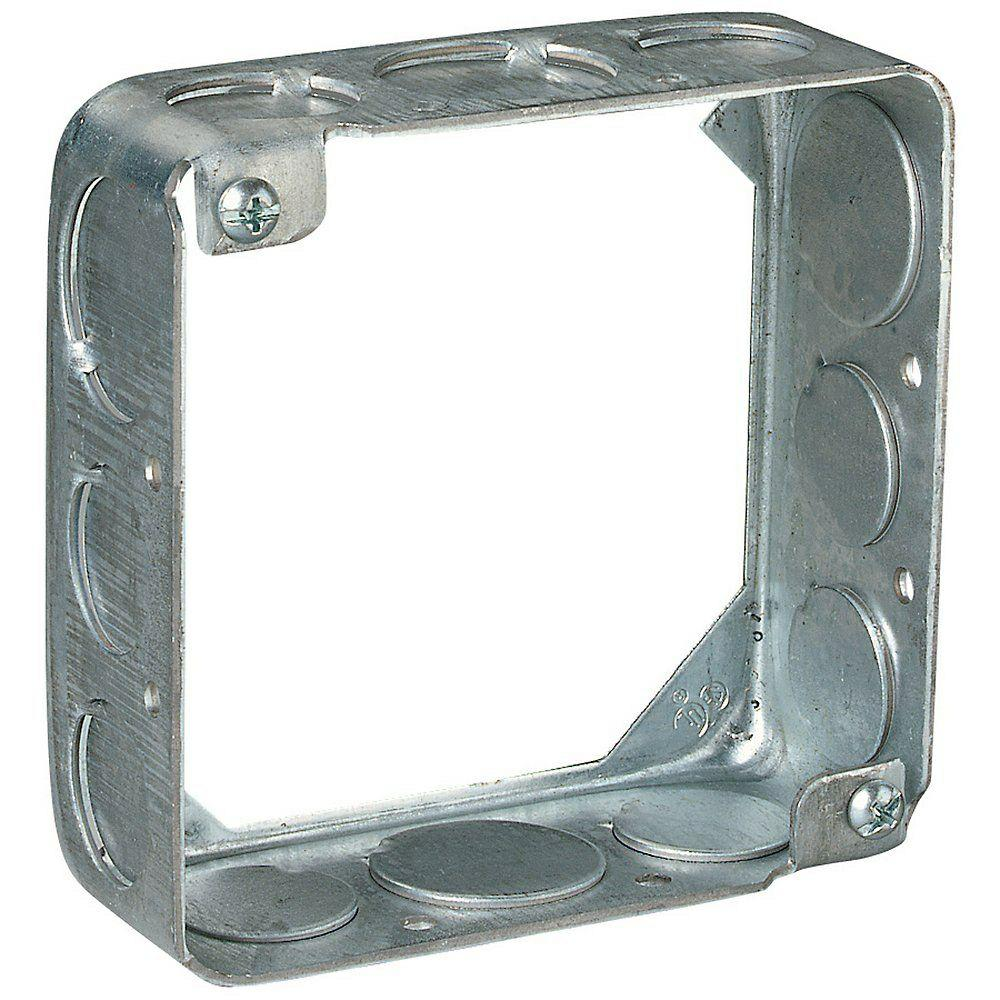 4 in. 21 cu. in. Square Box Extension Ring (Case of