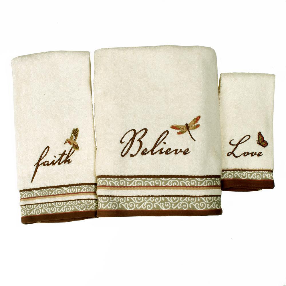 Inspire Cotton Fingertip Towel in Natural