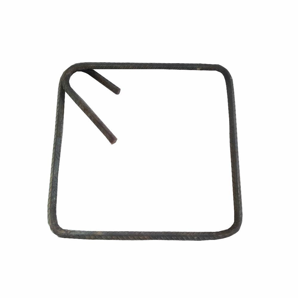 10 in  x 10 in  Square Rebar Ring with Hook