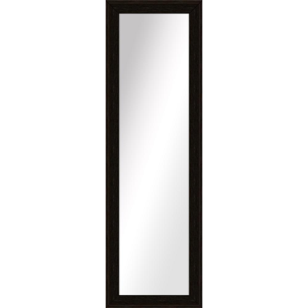 Large Rectangle Espresso Art Deco Mirror (52.25 in. H x 16.25 in. W)