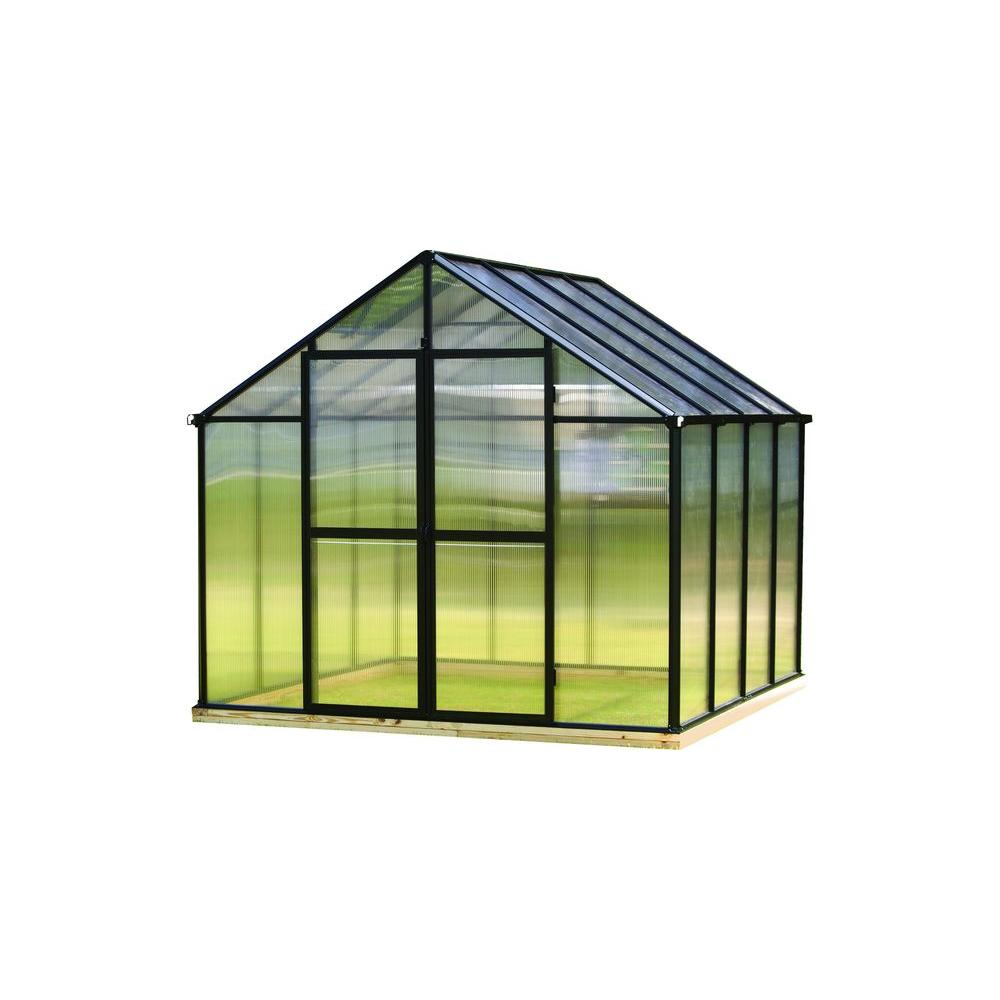 Greenhouse Additional Door Kit in Black  sc 1 st  Home Depot & Monticello 4 ft. x 6 ft. Greenhouse Additional Door Kit in Black ...